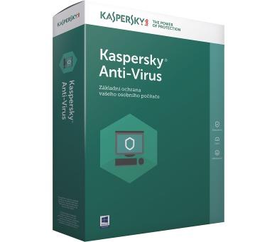 Kaspersky Anti-Virus 2018 / 1 zařízení na 1 rok + 3 měsíce navíc zdarma/ NOVÁ Krabice + DOPRAVA ZDARMA