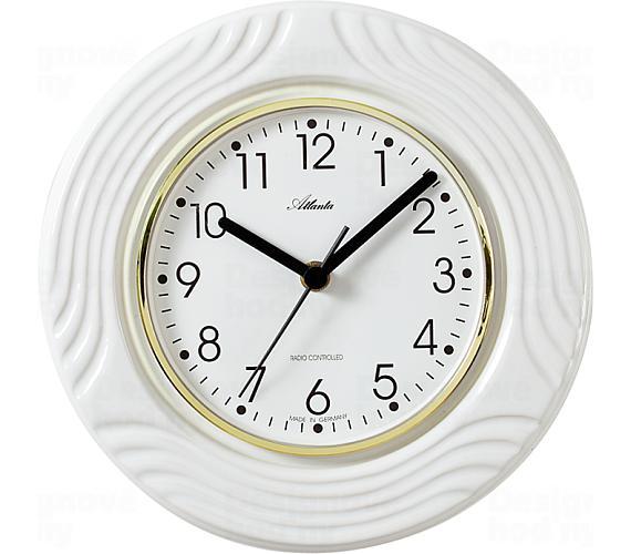 Designové nástěnné keramické hodiny AT6020 řízené signálem DCF + DOPRAVA ZDARMA