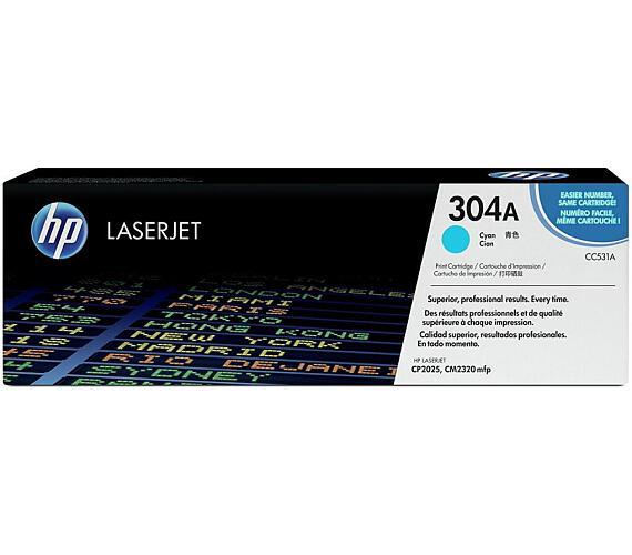 HP 304A Azurová tonerová kazeta LaserJet (CC531A) - contract