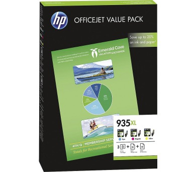 HP inkoustové kazety 935XL multipack CMY F6U78AE originál