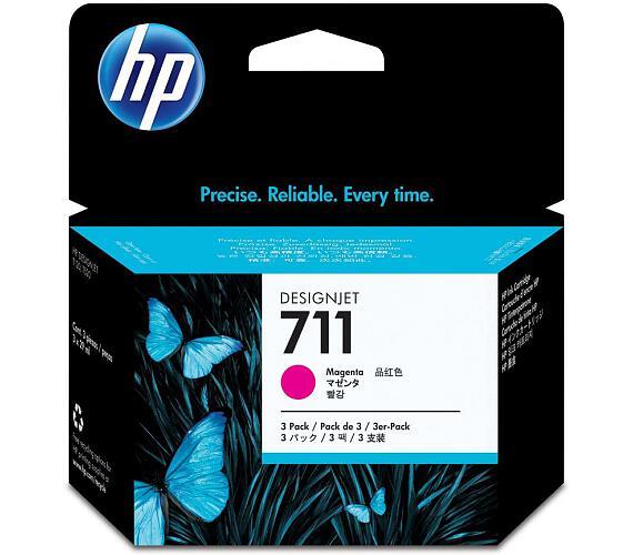 HP inkoustová kazeta 711 purpurová CZ135A originál 3-pack + DOPRAVA ZDARMA