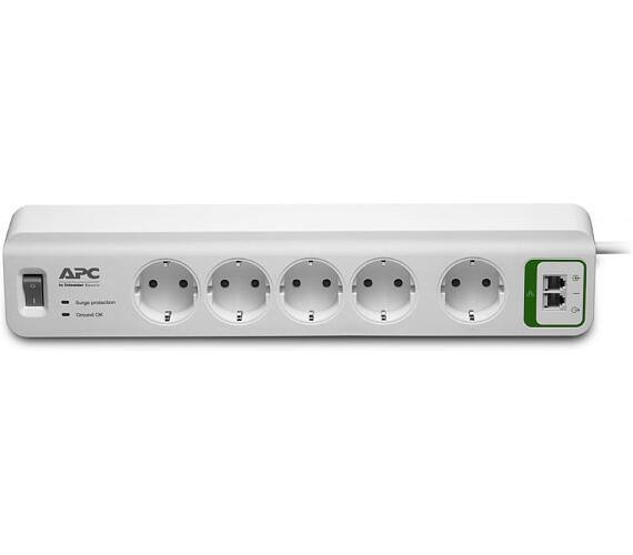 APC přepěťová ochrana Essential SurgeArrest PM5T-FR/ 5 zásuvek/ ochrana telefonní linky