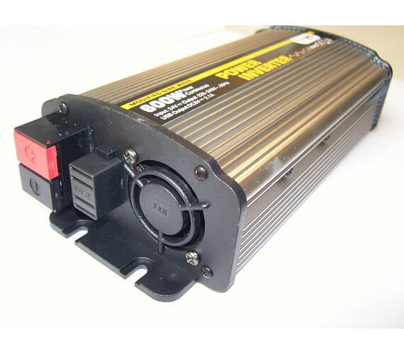 Síťový měnič napětí z 24V DC na 230V AC 600W + USB 2100mA