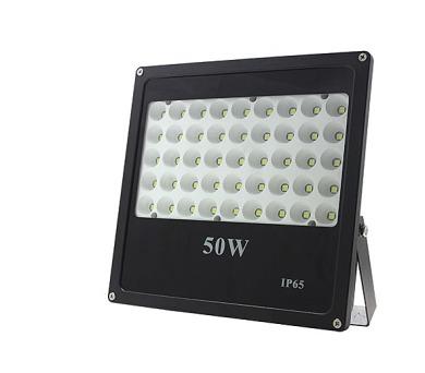 LED reflektor 50W plochý černý 4250lm