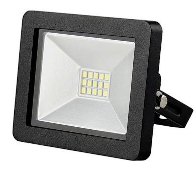 LED reflektor 10W plochý černý 3000K WM-10W-G