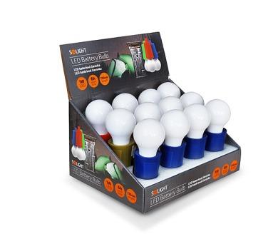 Solight LED svítilna-žárovka plast 1W