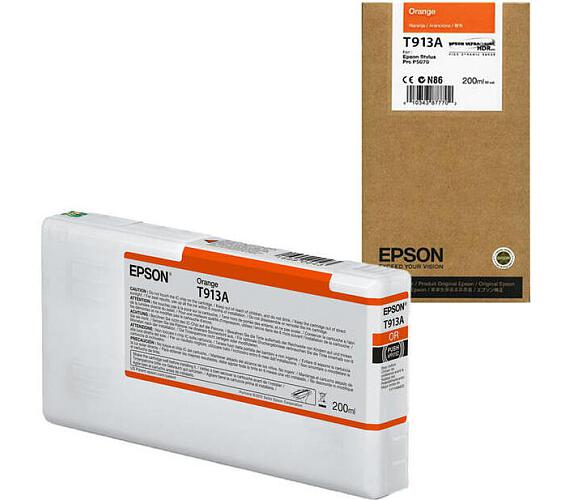 Epson T913A Orange Ink Cartridge (200ml) (C13T913A00) + DOPRAVA ZDARMA