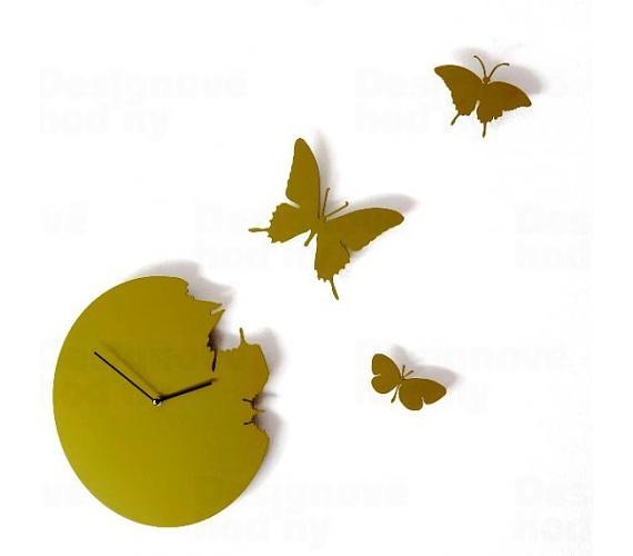 Designové hodiny Diamantini a Domeniconi Butterfly green 40cm + DOPRAVA ZDARMA