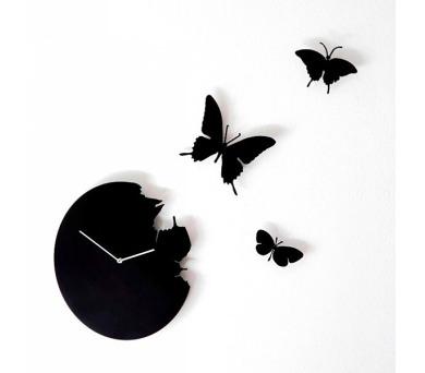Designové hodiny Diamantini a Domeniconi Butterfly black 40cm + DOPRAVA ZDARMA