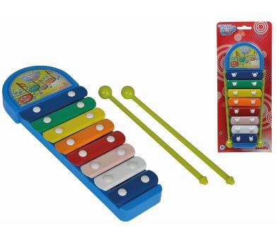 MMW Xylofon modrý 8 kovových kláves