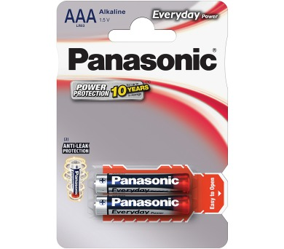 LR03 2BP AAA Ev Power alk Panasonic