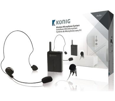 König KN-MICW631 - mikrofon bezdrátový Bodypack + DOPRAVA ZDARMA