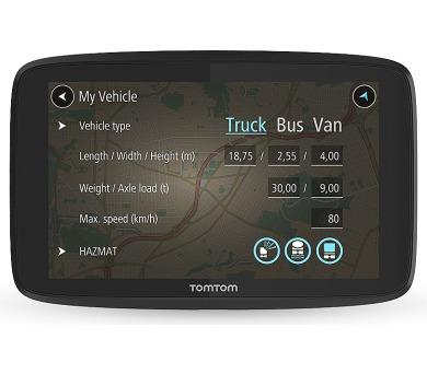 TomTom GO PROFESSIONAL 620 - LIFETIME mapy s doživotní traffic službou a rychlostními radary