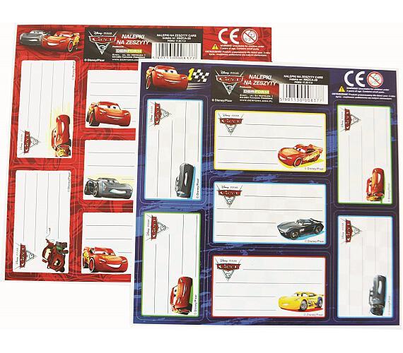 Karton P+P Samolepky - jmenovka Cars 1-319