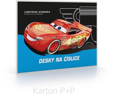 Karton P+P Desky na číslice Cars 1-83517
