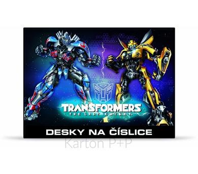 Karton P+P Desky na číslice Transformers 3-98317