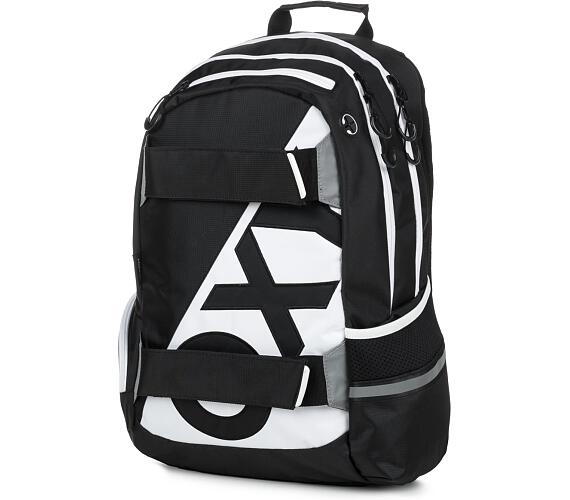 Karton P+P Anatomický batoh OXY Sport I. NEON LINE Black & White 7-70617 + DOPRAVA ZDARMA