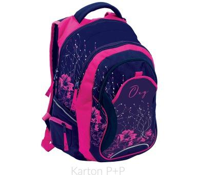 Karton P+P Anatomický batoh OXY Fashion Pink Flowers 7-70917 + DOPRAVA ZDARMA