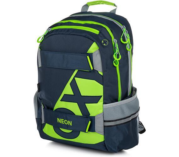 Karton P+P Anatomický batoh OXY Sport I. NEON LINE Dark Blue 7-71517 + DOPRAVA ZDARMA