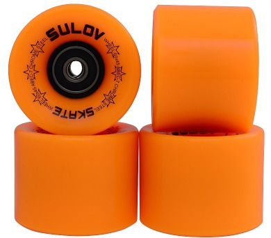 Kolečka Penny board NEON ORANGE 60 x 45mm 85A Sulov