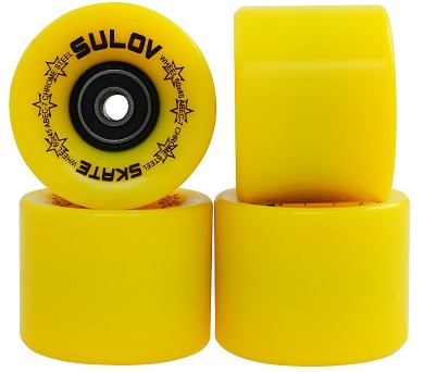 Kolečka Penny board NEON YELLOW 60 x 45mm 85A Sulov