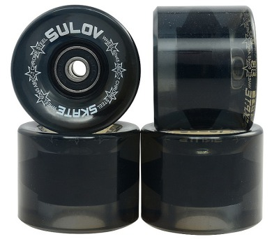 Kolečka Penny board BLACK TRANSPARENT 60 x 45mm 85A Sulov