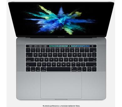 """Apple MacBook Pro 15,4"""" Touch Bar/IPS Retina 2880x1800/QC i7 2.8-3.8GHz/16GB/256GB_SSD/R Pro 555_2GB/CZ/Space Gray + DOPRAVA ZDARMA"""
