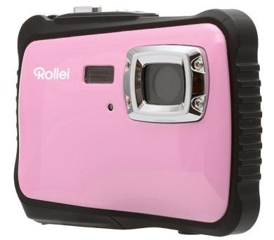 """Rollei Sportsline 64/ 5 MPix/ 2"""" LCD/ Voděodolný do 3m/ HD/ Brašna zdarma/ Růžovo-černý"""