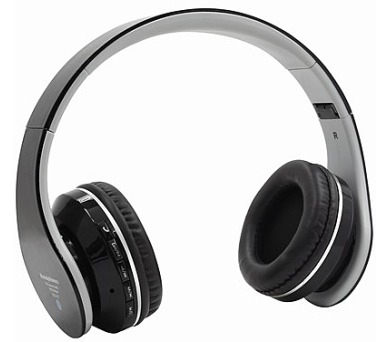 Bluetooth Sluchátka S6 FM rádio,SD/MP3 černá