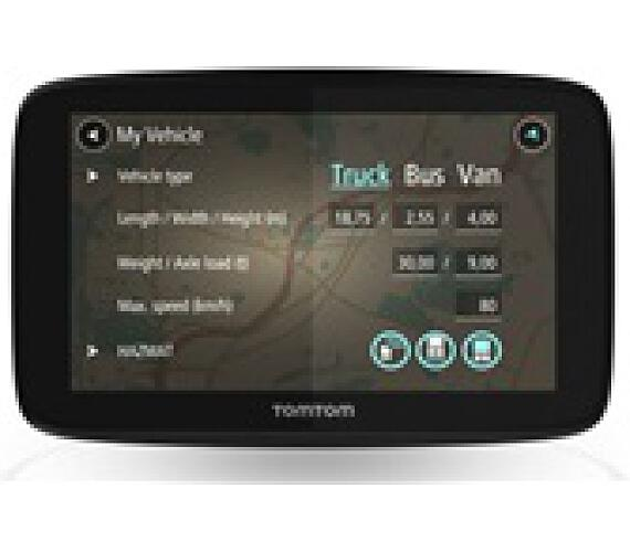 Tomtom GO PROFESSIONAL 6200 - LIFETIME mapy Evropy