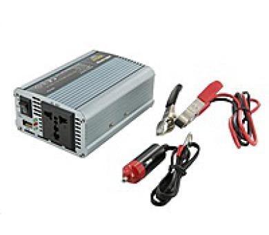 Whitenergy měnič napětí DC 12V-AC 230V 350W + USB
