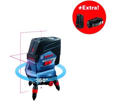 Bosch GCL 2-50 C Professional + 2x aku 2,0Ah + L-Boxx 238 + dálkové ovládání