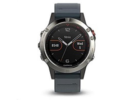 Garmin GPS sportovní hodinky fenix5 Silver Optic + DOPRAVA ZDARMA