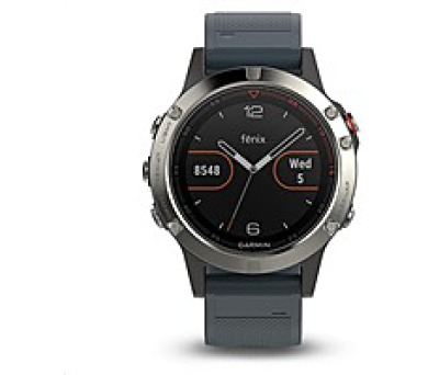 Garmin GPS sportovní hodinky fenix5 Silver Optic