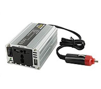 Whitenergy měnič napětí DC 12V-AC 230V 200W + USB