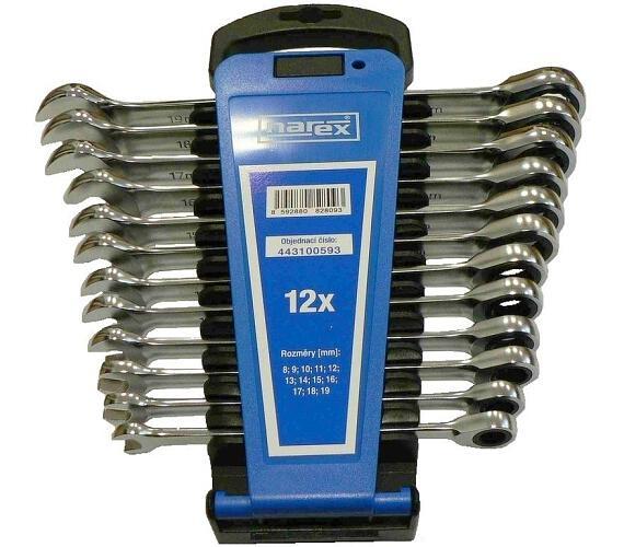 Sada klíčů 12dílná ráčnových plast. držák DIN3113