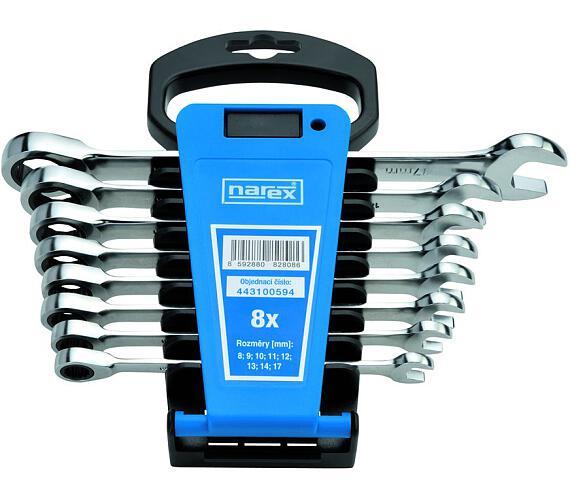 Sada klíčů 8dílná ráčnových plast. držák DIN3113