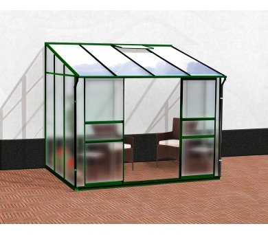 Skleník Lanit Plast VITAVIA IDA 5200 matné sklo 4 mm + PC 6 mm zelený + DOPRAVA ZDARMA