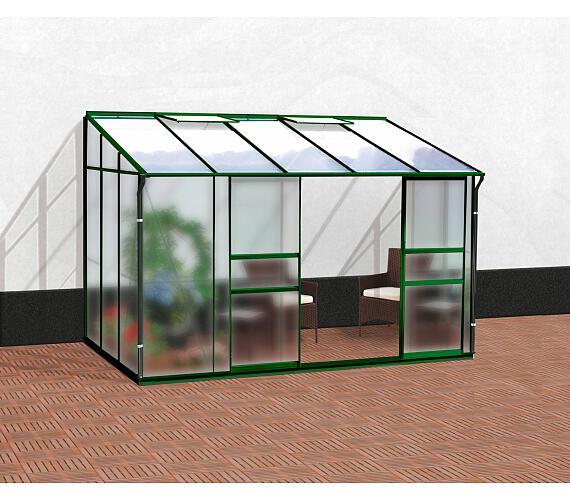 Skleník Lanit Plast VITAVIA IDA 6500 matné sklo 4 mm + PC 6 mm zelený + DOPRAVA ZDARMA
