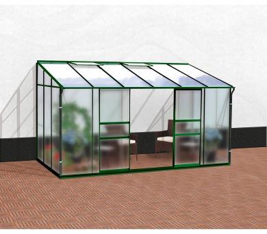 Skleník Lanit Plast VITAVIA IDA 7800 matné sklo 4 mm + PC 6 mm zelený + DOPRAVA ZDARMA