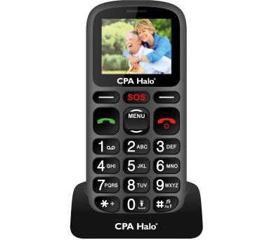 Mobilní telefon CPA Halo 16 černý s nabíjecím stojánkem