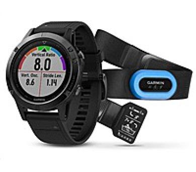 Garmin GPS sportovní hodinky fenix5 Sapphire Black Optic TRI Performer