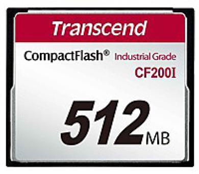 TRANSCEND Industrial Compact Flash Card CF200I 512 MB