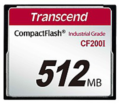 TRANSCEND Industrial Compact Flash Card CF200I 512MB
