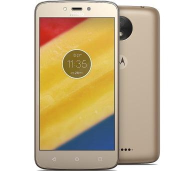 """Motorola Moto C Plus Dual SIM/5"""" IPS/1280x720/Quad-Core/1,3GHz/2GB/16GB/8Mpx/LTE/Android 7.0/Gold"""