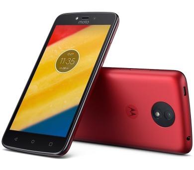 "Motorola Moto C Plus Dual SIM/5"" IPS/1280x720/Quad-Core/1,3GHz/1GB/16GB/8Mpx/LTE/Android 7.0/Metallic Cherry (PA800118CZ)"