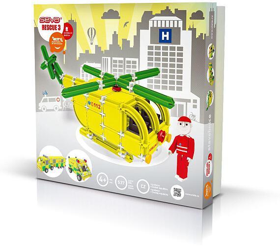 Stavebnice Seva Rescue 3 Záchranáři plast 537ks v krabici 35x33x8cm + DOPRAVA ZDARMA