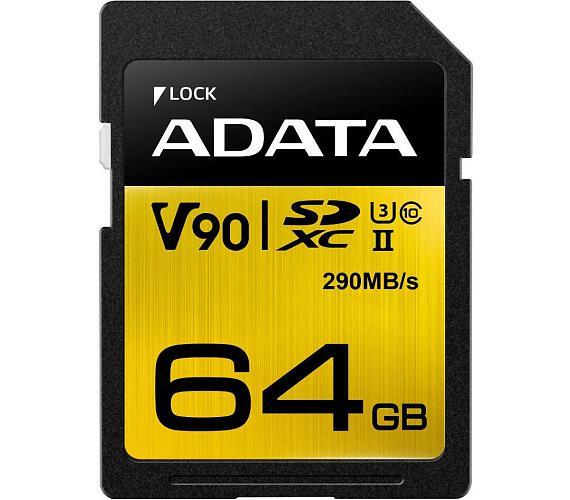 ADATA SDXC 64GB UHS-II U3 (290/260MB) (ASDX64GUII3CL10-C) + DOPRAVA ZDARMA