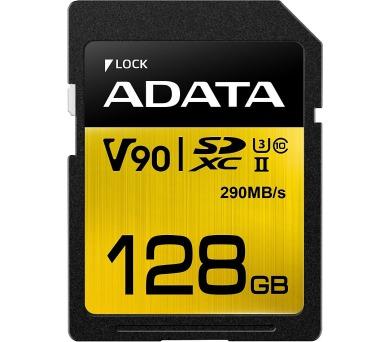 ADATA SDXC 128GB UHS-II U3 (290/260MB) + DOPRAVA ZDARMA