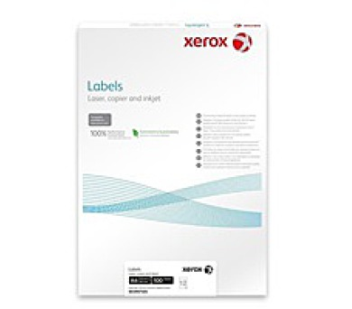 Xerox Papír bílé samolepící štítky